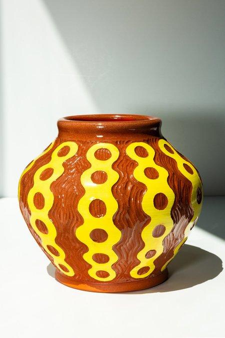 GABO MARTINI Large Terracotta Vessel - Yellow