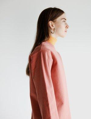 Auralee Super Milled Cut Off Sweatshirt - Pink Red