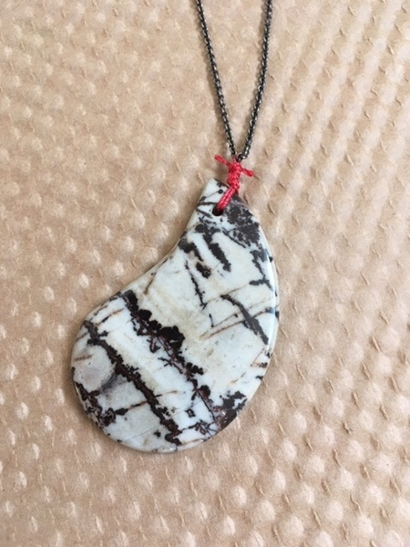 WS House Agate and Sterling Necklace
