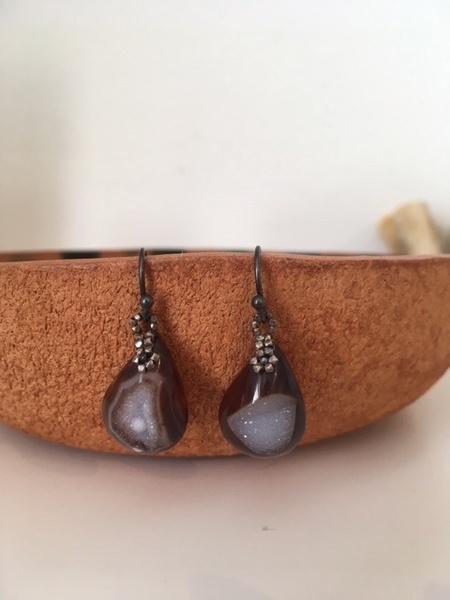 Kalasoma Druzy earrings - Burgundy
