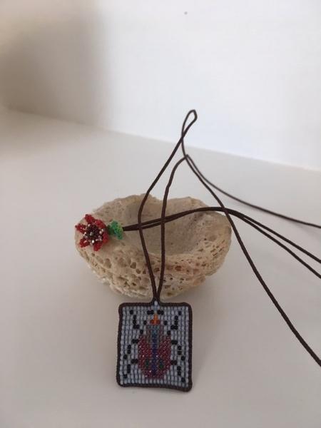 Kalasoma beaded bug necklace