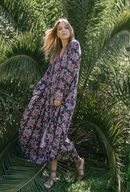 Natalie Martin Fiore Maxi Dress - Vintage Flowers Violet