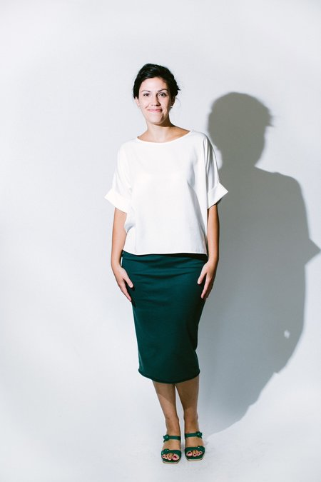 Natalie Busby Collection Tencel T-shirt - White