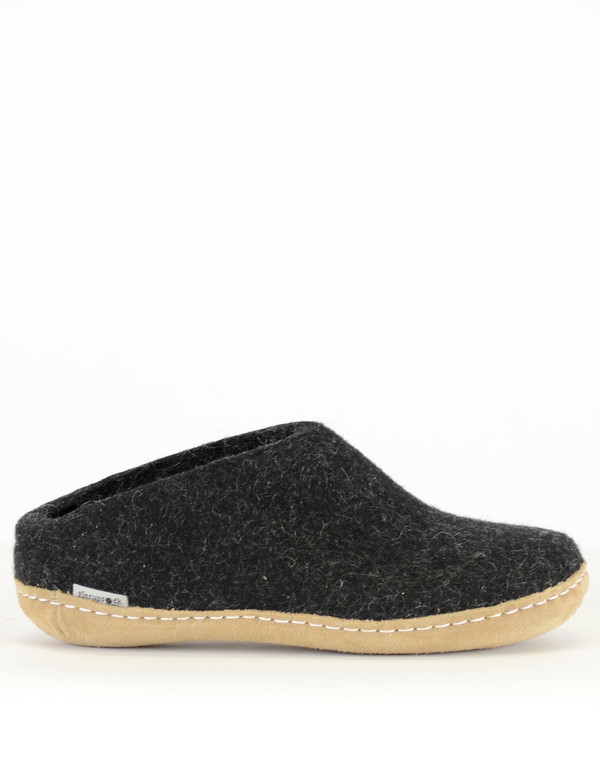 7d3b78ac657 Glerups Men s Wool Slipper Leather Sole Charcoal. sold out. Glerups · Shoes