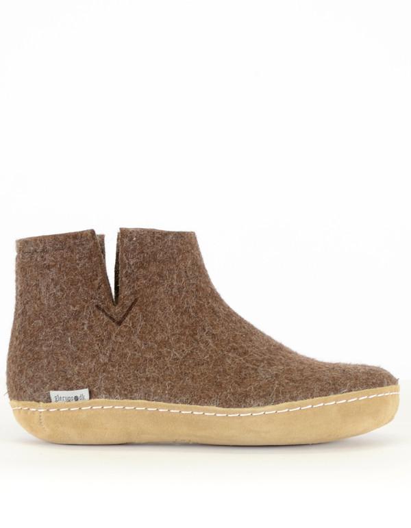 12ed2337c89 Glerups Women s Wool Boot Leather Sole Brown