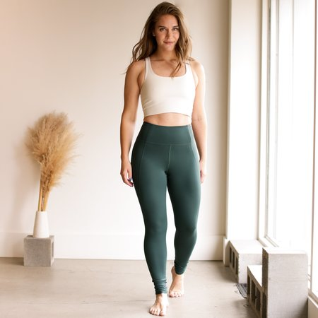 Girlfriend Collective High Rise Classic Compressive Leggings - Moss