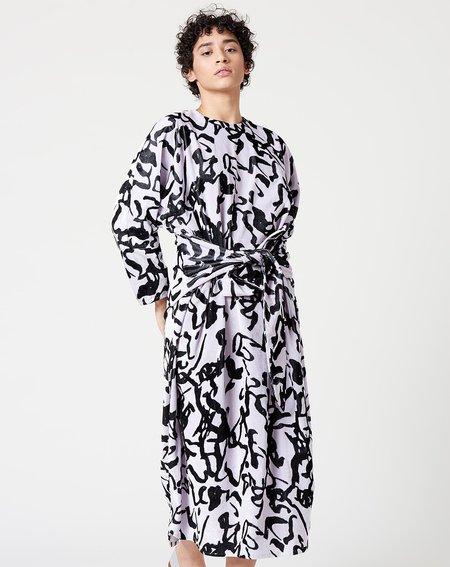 Anntian Binder Dress - Rice Noodles Print