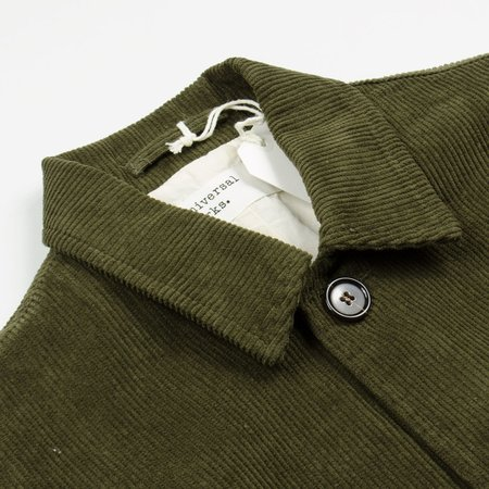 Universal Works Cord Bakers Jacket - Olive