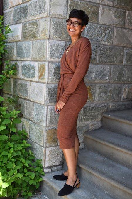Eve Gravel Mad Desire Dress - Cinnamon