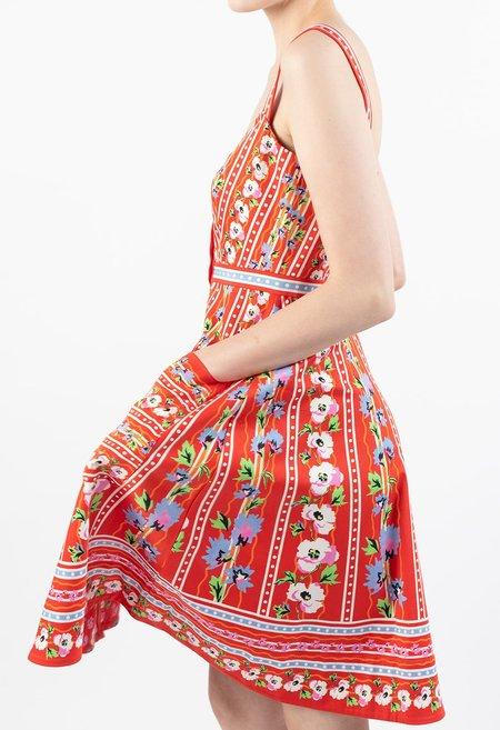 Saloni Fara Short Dress - Poppy Stripe