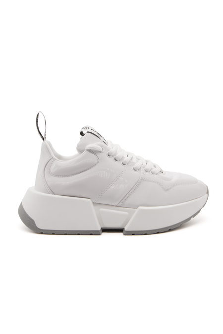 MM6 Leather Sneaker - Bright White