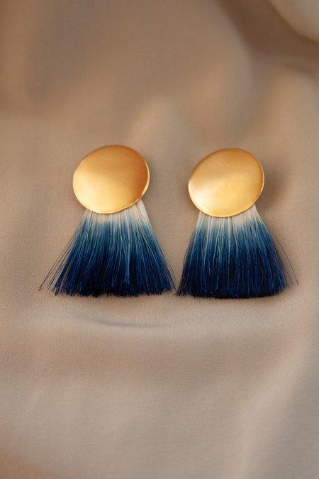 Anna Monet Golden Hours Earrings - Indigo
