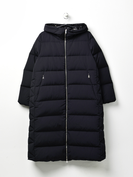 ADD DOWN OVERSIZED PADDED DOWN LONG COAT - BLACK