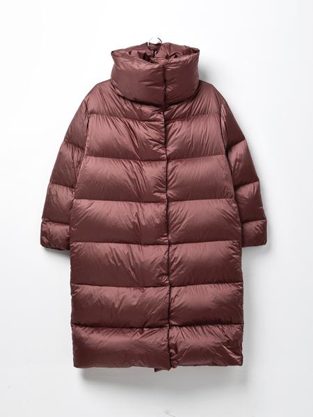 Add Oversized Down Long Coat - Mauve