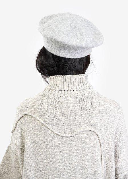 Lauren Manoogian Pebble Horizontal Beret - Grey