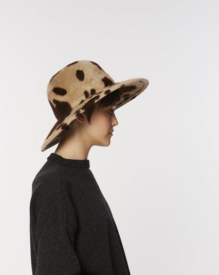 unisex Brookes Boswell Baldwin fur felt hat - cow print