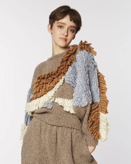 Atelier Delphine Paladora sweater - brown combo