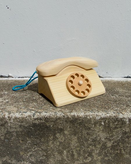 KIDS Grimm's Wooden Telephone - Natural