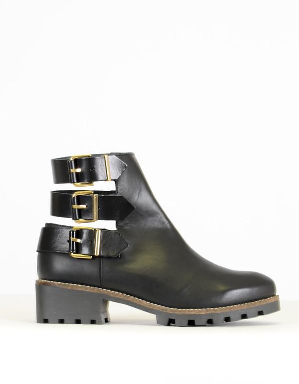 08351da1f7e Miista Cecilia Back Strap Ankle Boot Black