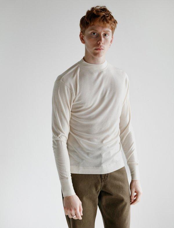 Margaret Howell MHL Thermal Wool Jersey T-Shirt - Ecru