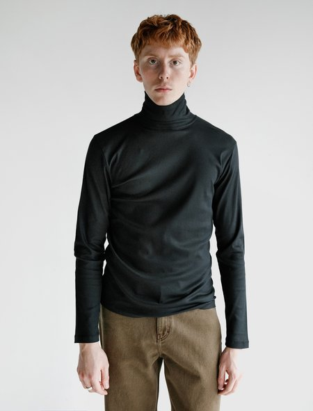 Lemaire Turtleneck Top - Midnight Blue
