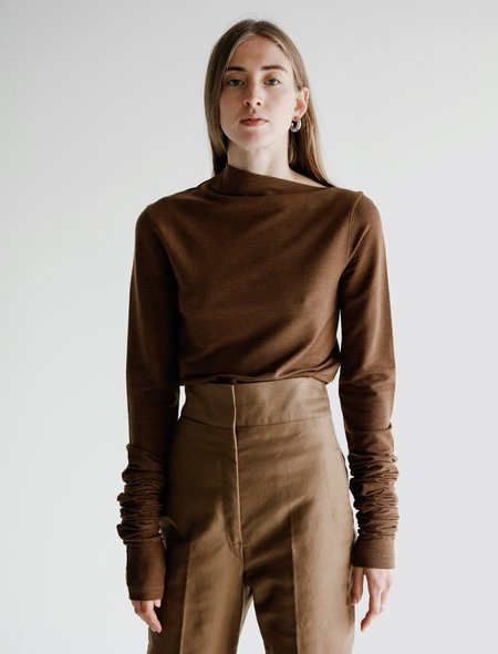 Lemaire Super Long Sleeves Jersey - Dark Earth