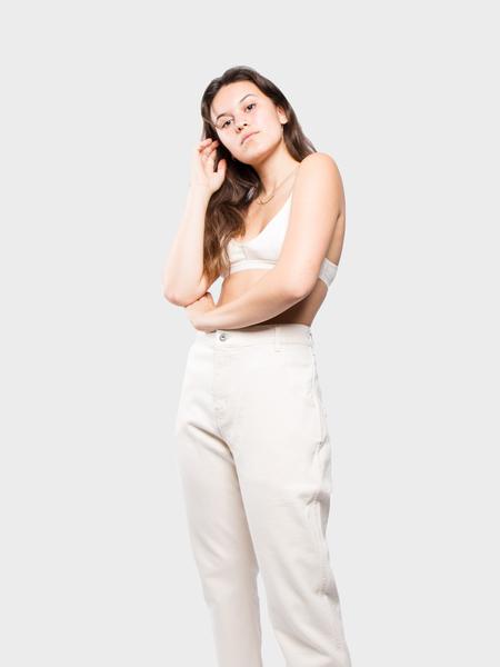 Baserange X Cotton Rib Bra - Off White