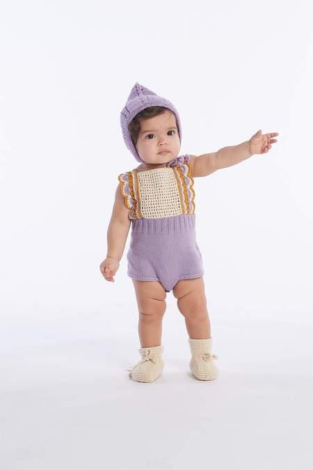 Kids Misha & Puff Sea Urchin Bonnet - Rust