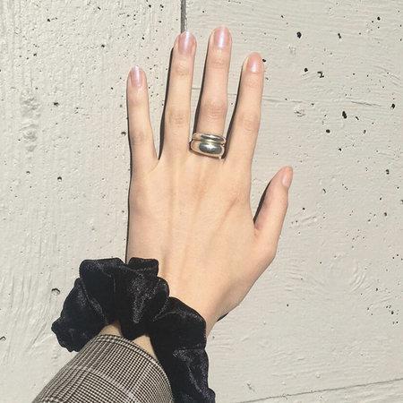 Noon Jewellery mini bubble ring - silver