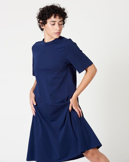 Kowtow Triangle T-Shirt Dress - Indigo