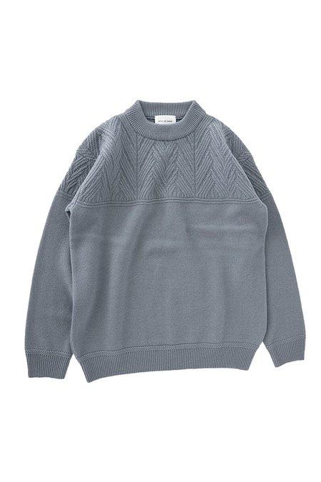 STILL BY HAND Mock Neck Lambswool Knit Sweater
