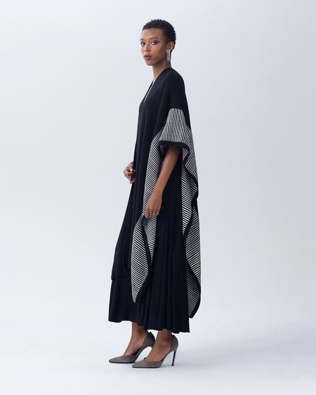 VOZ Striped Edge Long Duster