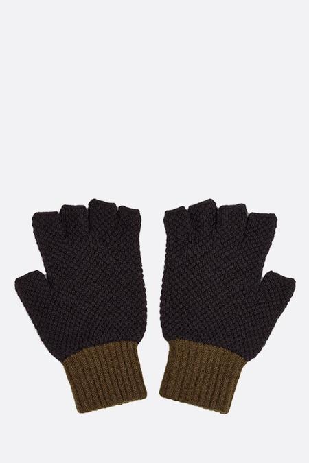 Jo Gordon Fingerless Gloves - Black/Military