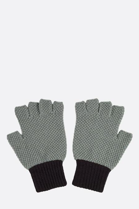 Jo Gordon Fingerless Gloves - Kintyre/Black