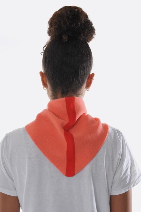 Jo Gordon Single Stripe Triangle Scarf - Medusa/Scarlet