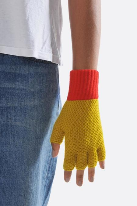 Jo Gordon Fingerless Gloves - Turmeric/Scarlet
