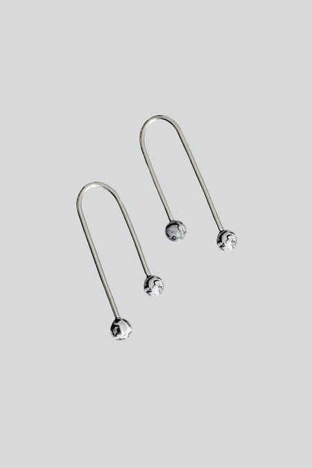 LLY Atelier Inverted U Earrings Jasper - STERLING SILVER