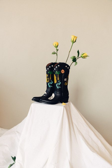 Brother Vellies Yin Yang Doodle Boots
