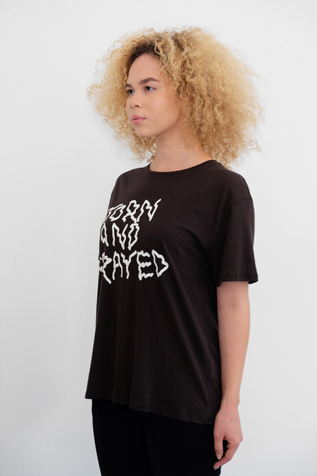6397 Torn and Frayed Tee - black