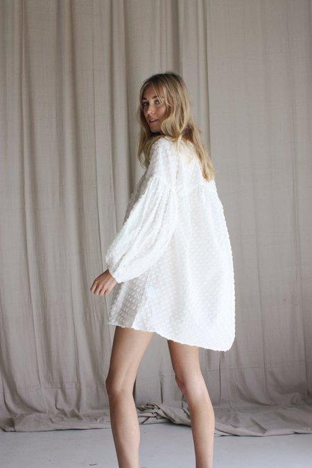 Beach Knickers Bella Donna Dress - Flocked Spot White