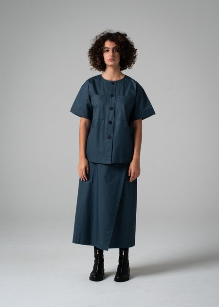 REIFhaus Crosby Top - Faded Indigo