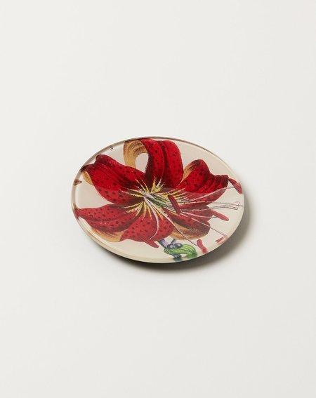 "John Derian 4"" Round Red Lily"