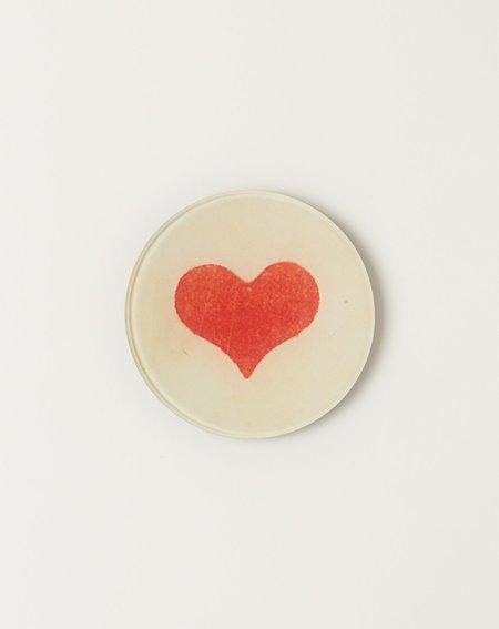 """John Derian 4"""" Round Wide Heart"""