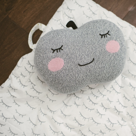 Kids Blabla Apple Pillow - Neutral Gray