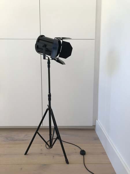 Vintage tripod set lamp - Black