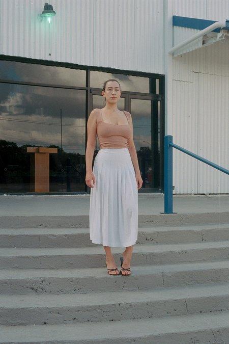 Pearle Knits Chubby Strap Tank - Tan