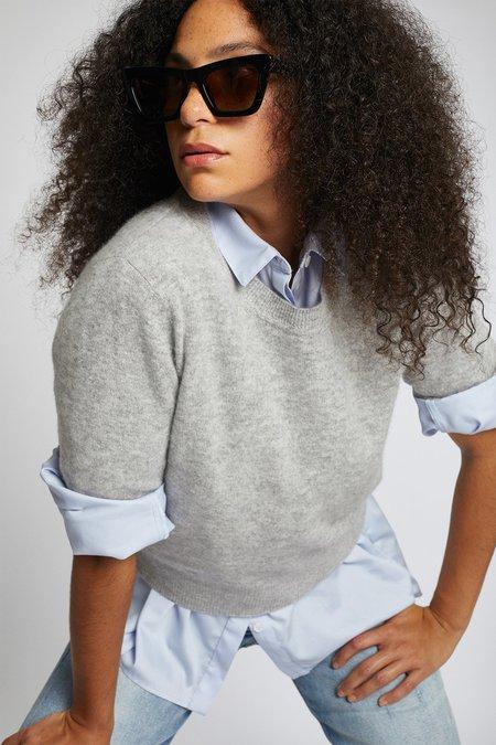 Naadam Cashmere Short Sleeve Sweater - Cement
