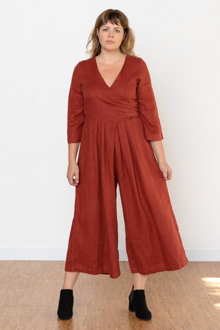 Sugar Candy Mountain Marigold Jumpsuit - Brick