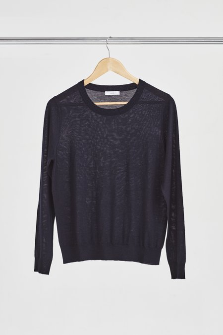 Laing Home Featherweight Cashmere Crewneck - Navy