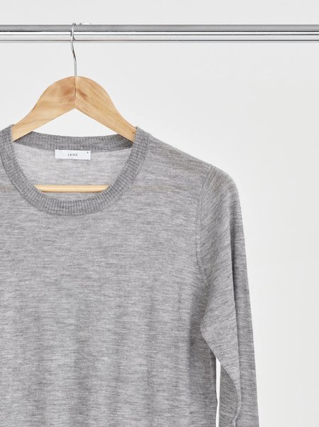 Laing Home Featherweight Cashmere Crewneck - Silver Marle